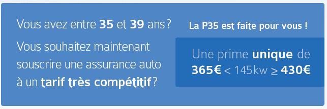 la P35, l'assurance auto imbattable