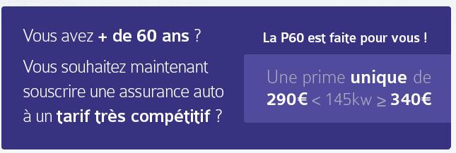 La P60, l'assurance auto imbattable